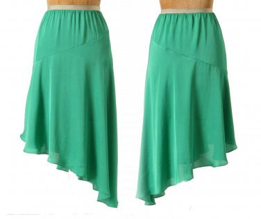 $128 Anthropologie Jade Slant Skirt 12 Large Green Leifsdottir