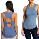 Free People Circle Back Ribbed Tank Small 2 4 Blue Hook & Eye Back Closure