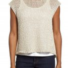 $238 Eileen Fisher Jewel Neck Wrap Back Top Large 14 16 Bone