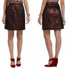 $148 Anthropologie Gala Bronze Shimmer Skirt 6 Medium Brown Leifsdottir