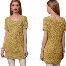 Anthropologie Juillet Sweater Tunic Large 10 12 Yellow Pullover Top COMFY Moth