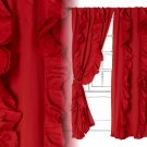 "One Panel Anthropologie Wandering Pleats Curtain Red 50"" x 84"" NWT"