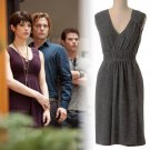 Anthropologie Cordial Embrace Dress Medium 6 8 Grey ASO Alice Cullen Twilight