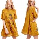 $168 Free People Perfectly Victorian Minidress XSmall 0 2 Yellow