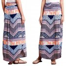 Anthropologie Couloir Maxi Skirt Medium 6 8 Geo Print Comfy Elastic Waist