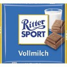 RITTER SPORT Chocolate Bar - Vollmilch - 100 g - from Germany- FRESH from Germany