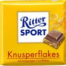 RITTER SPORT Chocolate Bar - Knusperflakes - 100 g - from Germany- FRESH from Germany
