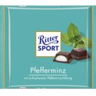 RITTER SPORT Chocolate Bar - Pfefferminz - 100 g - from Germany- FRESH from Germany
