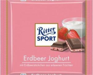 RITTER SPORT Chocolate Bar - Erdbeer Joghurt - 100 g - from Germany- FRESH from Germany