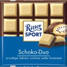 RITTER SPORT Chocolate Bar - Schoko Duo / Chocolate Duo - 100 g - from Germany- FRESH from Germany