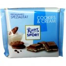 RITTER SPORT Chocolate Bar - Cookies & Cream - 100 g - from Germany- FRESH from Germany