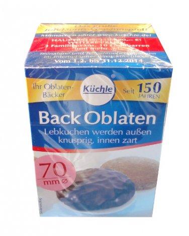 Kuechle ® Back Oblaten - Wafer - 70 mm ø - Gingerbread - Macaroons - Xmas