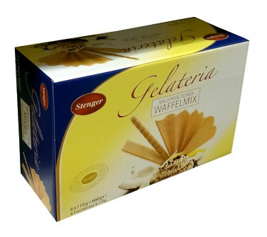 Stenger Galeria - Waffle Mix  - 660 gr - Ice Cream - Fresh from Germany