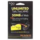 H2O Wireless gsm sim card starter kit
