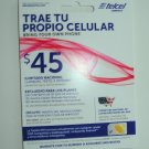 Telcel America  unlimited gsm sim card
