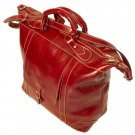 Floto Italian Leather Tack Duffle bag in Tuscan Red