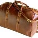 Floto Venezia Leather Grande Duffle in Vecchio brown