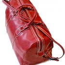 Floto Milano Italian Leather duffle bag in Tuscan Red