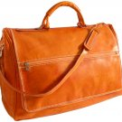 Floto Taormina Italian Leather Duffle in Orange
