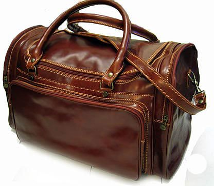 Floto Torino Italian Leather Duffle bag in Vecchio Brown
