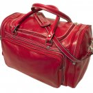 Floto Torino Italian Leather Duffle bag in Tuscan Red