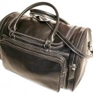 Floto Torino Italian Leather Duffle bag in Black