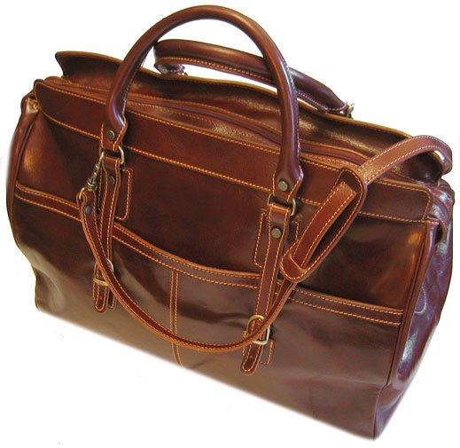 Floto Casiana Italian Leather Travel Tote bag in Vecchio Brown