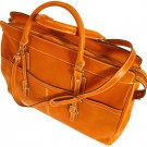Floto Casiana Italian Leather Travel Tote bag in Orange