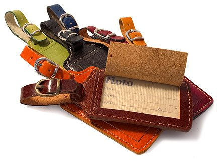 Luggage Tag in Vecchio Brown