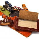 Luggage Tag in Vecchio Brown