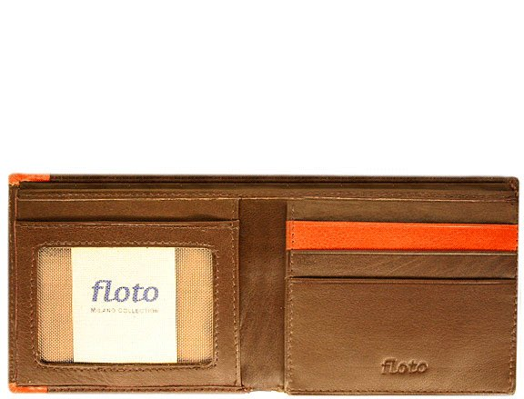 Floto Milano Billfold/Wallet in Vecchio Brown