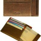 Floto Milano Card Case/Wallet in Vecchio Brown