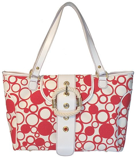 Floto Bollicine Handbag in Red
