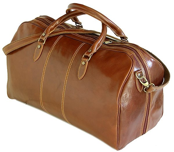 Floto Venezia Leather  Duffle in Vecchio brown