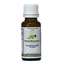 SocialFear Relief Homeopathic remedy temporarily relieves social fear, shyness and stage fright