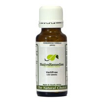 VertiFree Homeopathic remedy temporarily supports inner ear balance, relieves dizziness & nausea