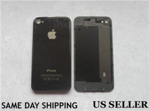 New iPhone 4 GSM Replacement Black Back Cover Housing