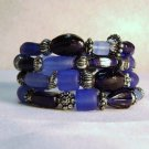 Multiple Shades of Blue Memory Wire Bracelet