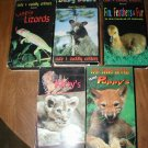 5 Set VHS Leapin Lizards, Baby Bears, Kitty's, Fin Feathers & Fur, Wild Puppies
