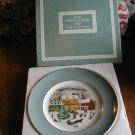 Avon Christmas Plate 1980 Country Christmas Wedgwood (IOB)