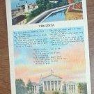 Vintage Virginia Poem Postcard