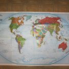 National Geographic Double sided Map The Word and The World Satellite (2011)