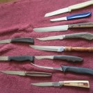 11 Mismatched Table Knives - various lengths & makers (wtnk49)