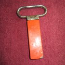 Vintage Orange and Silver Tone Heavy Duty Bottle Opener  (wtnk80)