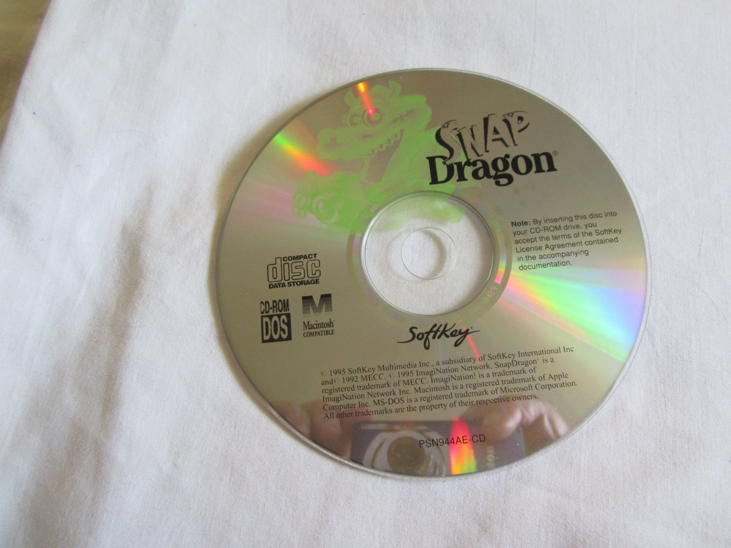 Snap Dragon - A Child's First Software CD ROM reading, math, and science concepts and skills