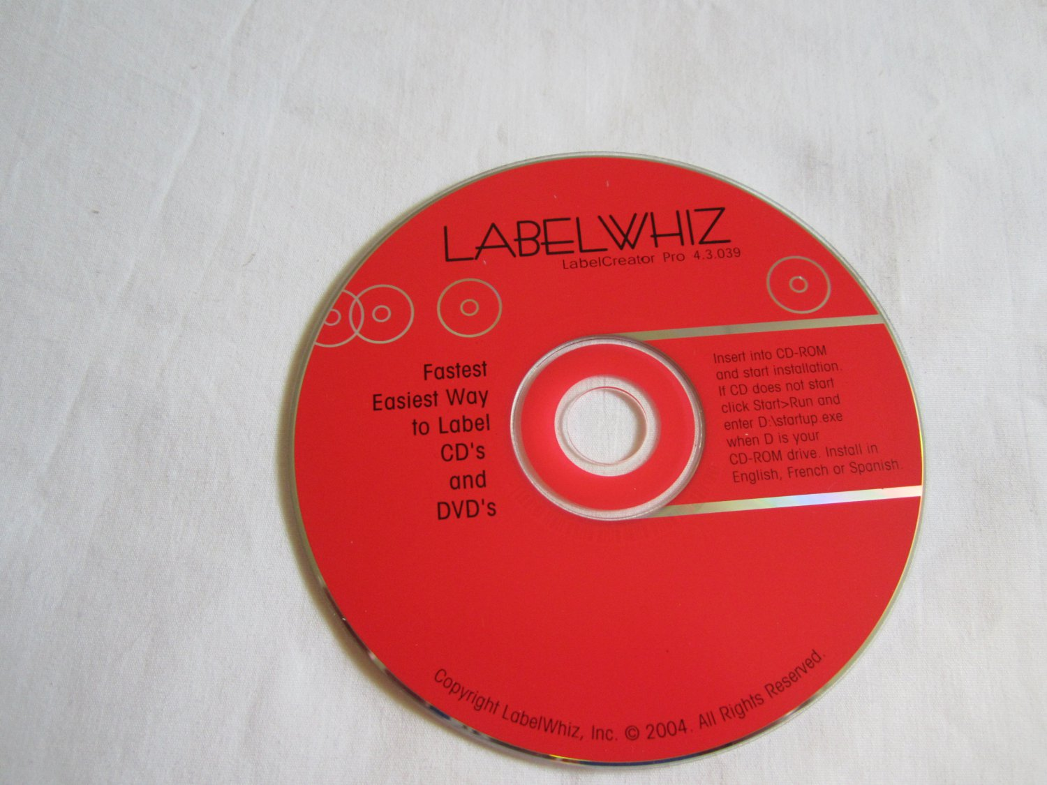 LabelWhiz LabelCreator Pro 4.3.039 CD ROM Labels