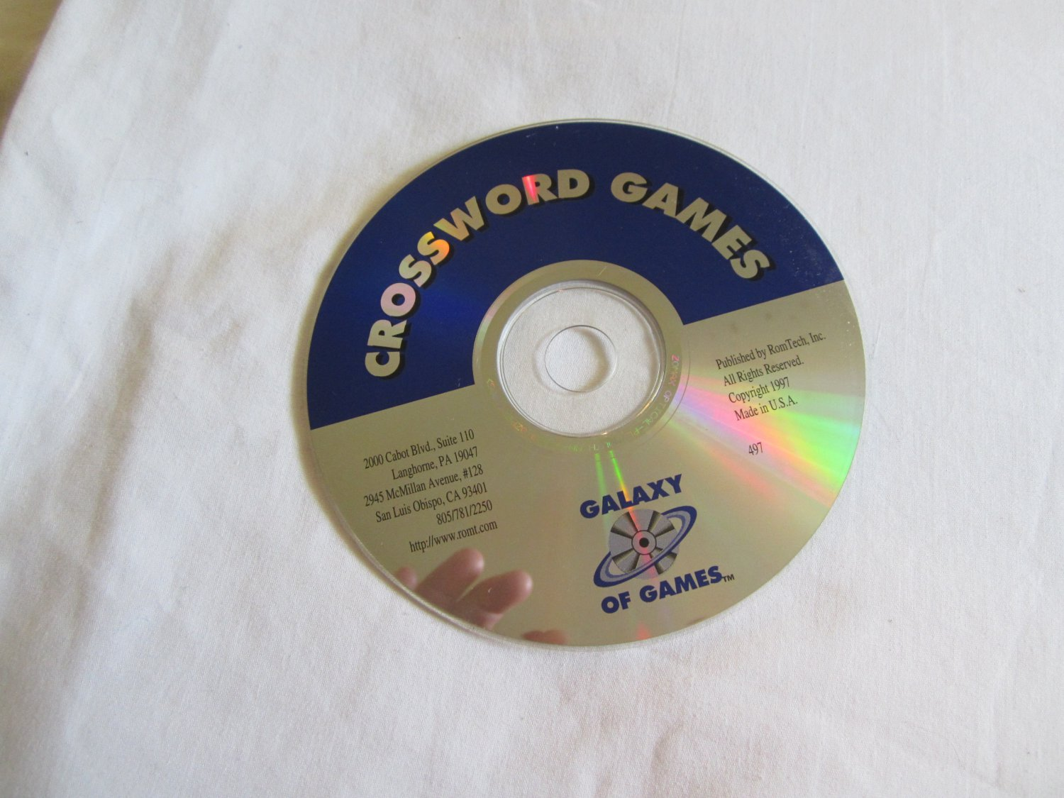 Crossword Games Galaxy of Games CD ROM over 300 Games
