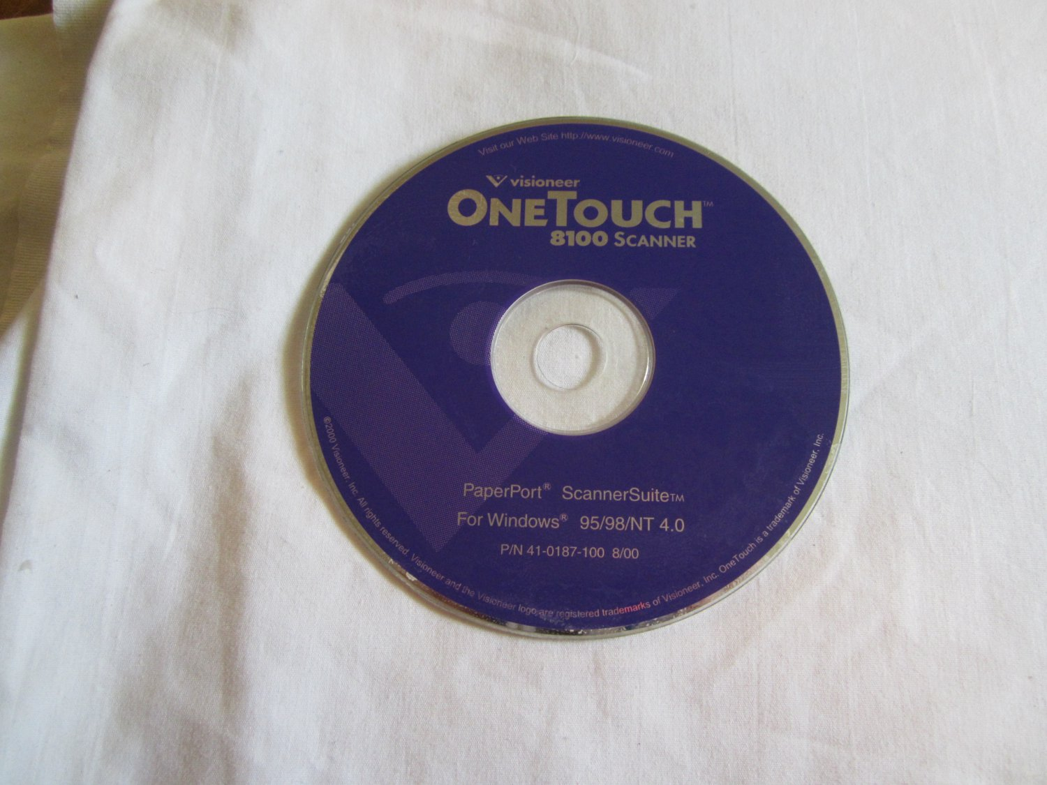 Visioneer One Touch 8100 Scanner CD ROM PaperPort Scanner Suite