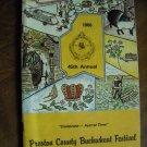 Preston County Buckwheat Festival Magazine Kingwood, WV (1986) 45th Annual