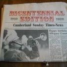 Cumberland Sunday Times-News Bicentennial Edition July 30, 1989 Newspaper Cumberland Maryland